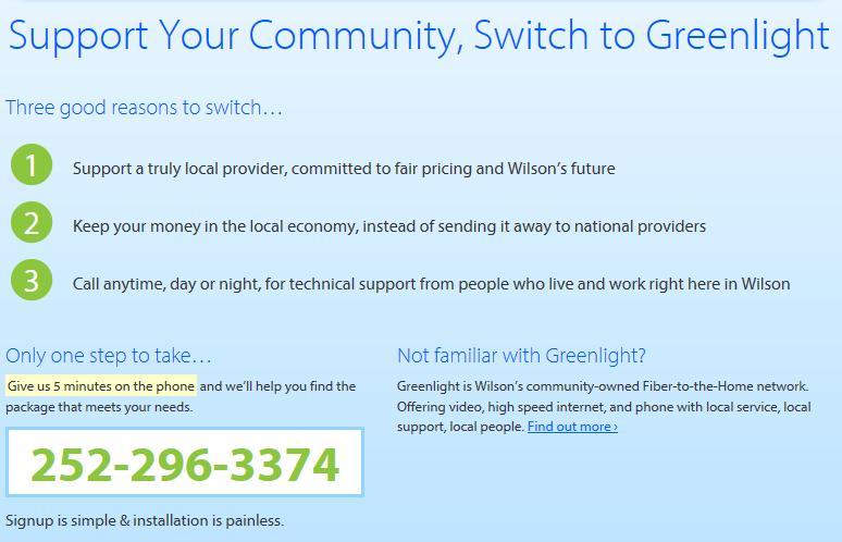Greenlight Wilson NC